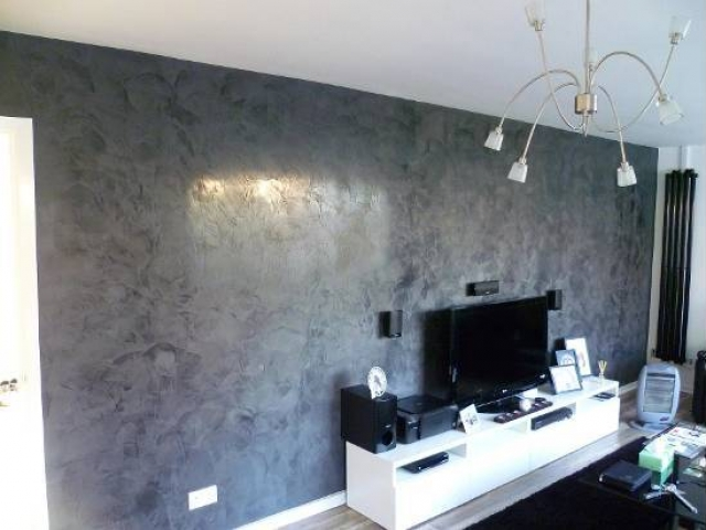 Marmorino polished plaster in london deco cemento - Eigentijdse woonkamer deco ...