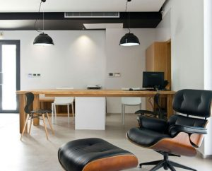 Microcement productivity workspace by Deco Cemento London