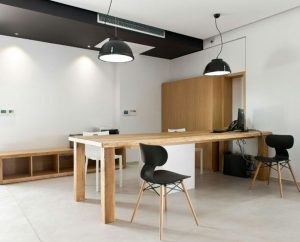 Microcement workspaces designed by Deco Cemento London