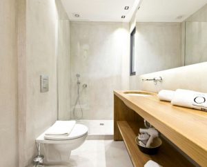 Microcement luxury bathrooms designed by Deco Cemento London