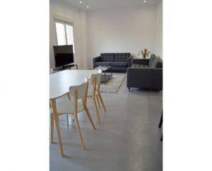 Living room polished concrete - Deco Cemento London