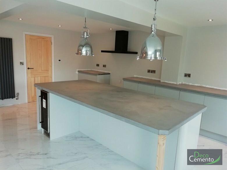 Microcement Kitchen London - Deco Cemento