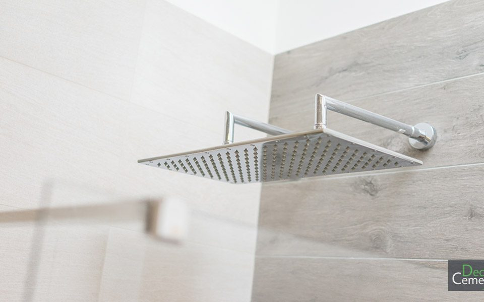 Microcement Shower room by Deco Cemento London