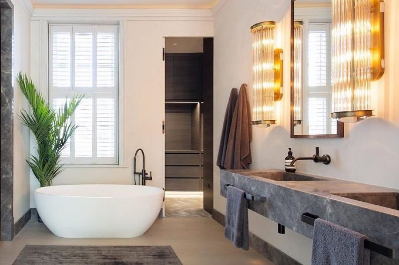 Polished Plaster London - Luxury Polished Plaster Bathroom by Deco Cemento London